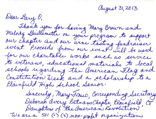mary brown good letter